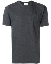 dunkelgraues T-Shirt mit einem Rundhalsausschnitt von Ma'ry'ya