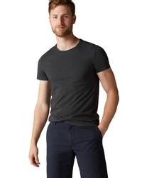 dunkelgraues T-Shirt mit einem Rundhalsausschnitt von Marc O'Polo