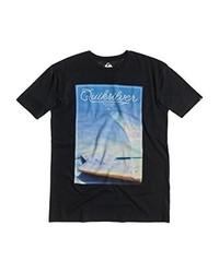 dunkelgraues T-Shirt mit einem Rundhalsausschnitt von Quiksilver