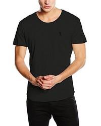 dunkelgraues T-Shirt mit einem Rundhalsausschnitt von Religion