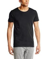dunkelgraues T-Shirt mit einem Rundhalsausschnitt von Selected Homme