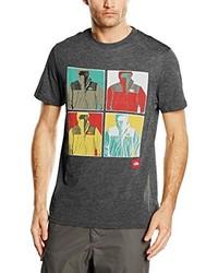 dunkelgraues T-Shirt mit einem Rundhalsausschnitt von The North Face