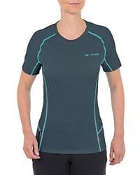 dunkelgraues T-Shirt mit einem Rundhalsausschnitt von Vaude
