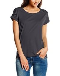 dunkelgraues T-Shirt mit einem Rundhalsausschnitt von VILA CLOTHES