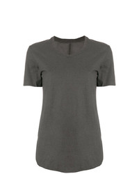 dunkelgraues T-Shirt mit einem Rundhalsausschnitt von Lost & Found Rooms