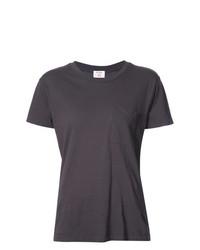 dunkelgraues T-Shirt mit einem Rundhalsausschnitt von RE/DONE