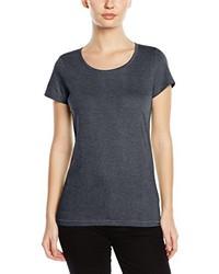 dunkelgraues T-Shirt mit einem Rundhalsausschnitt von Stedman Apparel