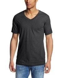 Dunkelgraues t shirt mit v ausschnitt original 2157603