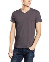 dunkelgraues T-Shirt mit einem V-Ausschnitt von Stedman Apparel