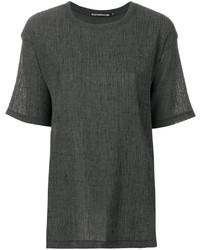dunkelgraues T-shirt von Issey Miyake