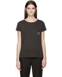 dunkelgraues T-shirt von Rag & Bone