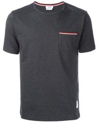 dunkelgraues T-shirt von Thom Browne