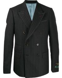 dunkelgraues vertikal gestreiftes Zweireiher-Sakko von Gucci