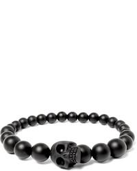 dunkelgraues Perlen Armband von Alexander McQueen