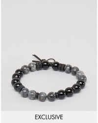 dunkelgraues Perlen Armband von Icon Brand