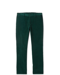 dunkelgrüne Anzughose aus Cord von Etro