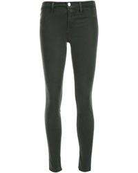 dunkelgrüne enge Jeans aus Baumwolle von J Brand