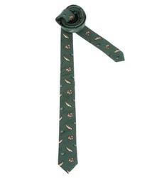 dunkelgrüne bedruckte Krawatte von Asos