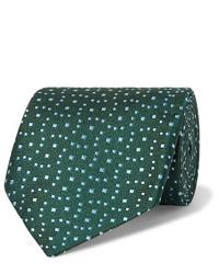 dunkelgrüne bedruckte Krawatte von Charvet