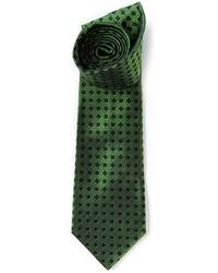 dunkelgrüne bedruckte Krawatte von Etro