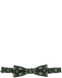 dunkelgrüne bedruckte Seidefliege von Dolce & Gabbana