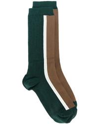 dunkelgrüne bedruckte Socken von Marni