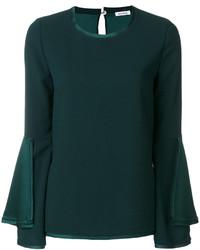 dunkelgrüne Bluse von P.A.R.O.S.H.
