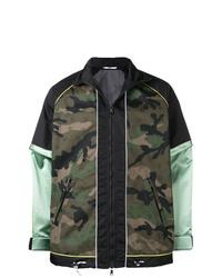 dunkelgrüne Camouflage Bomberjacke von Valentino