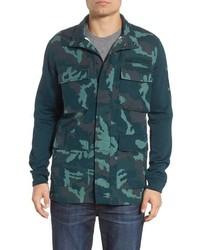 dunkelgrüne Camouflage Feldjacke