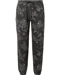 dunkelgrüne Camouflage Jogginghose