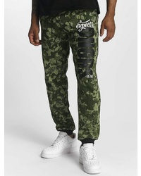 dunkelgrüne Camouflage Jogginghose von Dangerous