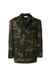 dunkelgrüne Camouflage Militärjacke