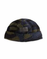 dunkelgrüne Camouflage Mütze