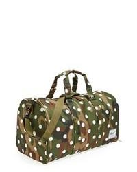 dunkelgrüne Camouflage Segeltuch Sporttasche