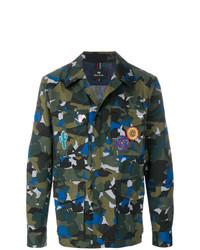 dunkelgrüne Camouflage Shirtjacke