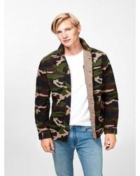 dunkelgrüne Camouflage Shirtjacke von Produkt