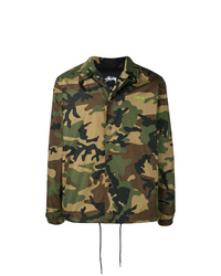 dunkelgrüne Camouflage Shirtjacke von Stussy