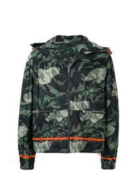 dunkelgrüne Camouflage Windjacke von Alexander McQueen
