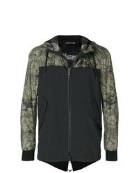 dunkelgrüne Camouflage Windjacke von Herno