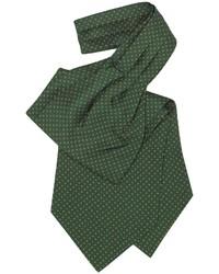 dunkelgrüne gepunktete Krawatte