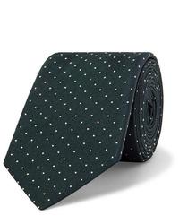 dunkelgrüne gepunktete Krawatte von Paul Smith