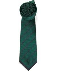 dunkelgrüne gepunktete Krawatte von Valentino