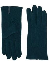 dunkelgrüne Handschuhe von Pieces