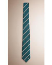 dunkelgrüne horizontal gestreifte Krawatte