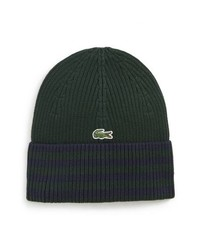 dunkelgrüne horizontal gestreifte Mütze