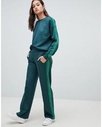 dunkelgrüne Jogginghose von Only