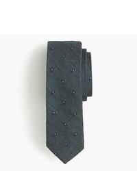 dunkelgrüne Krawatte mit Paisley-Muster