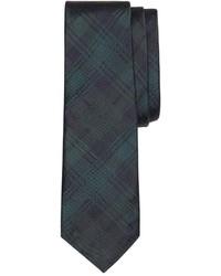 dunkelgrüne Krawatte mit Schottenmuster