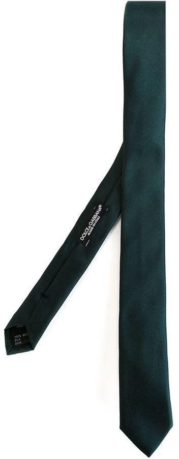 dunkelgrüne Krawatte von Dolce & Gabbana