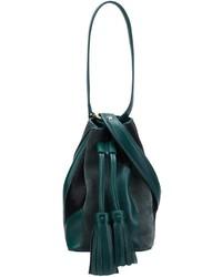 dunkelgrüne Leder Beuteltasche von Derek Lam 10 Crosby